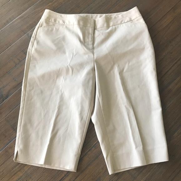 8092c0bfaee Rafaella Curvy size 10 tan Capri pants shorts
